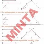 Háromszögek szerkeszthetőségének alapesetei