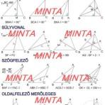 Háromszögek nevezetes vonalai